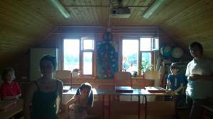 Klassenzimmer in Kovcheg